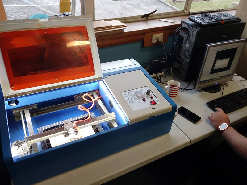 Our laser cutter